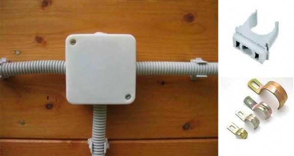 Прокладка кабелей электропитания