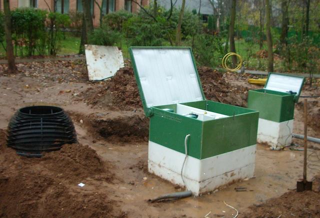 Монтаж канализационных установок